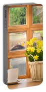 Spring Showers Portable Battery Charger by Amanda Elwell