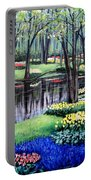 Spring Spendor Tulip Garden Portable Battery Charger