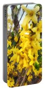 Spring - Sprig Of Forsythia Portable Battery Charger