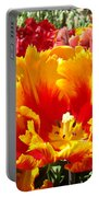 Spring Tulip Flowers Art Prints Yellow Red Tulip Portable Battery Charger