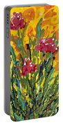 Spring Tulips Triptych Panel 3 Portable Battery Charger
