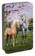 Spring's Gift - Mare And Foal Portable Battery Charger
