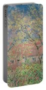 Springtime At Giverny Portable Battery Charger by Claude Monet