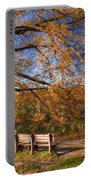 Springtime Fire Portable Battery Charger by Debra and Dave Vanderlaan