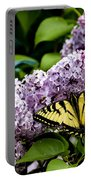 Springtime Lilac And Butterfly Portable Battery Charger