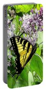 Springtime Moments- The Butterfly And The Lilac  Portable Battery Charger
