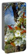 Springtime Pear Blossoms - Hello Spring Portable Battery Charger