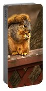 Squirrel Eating A Peanut Portable Battery Charger