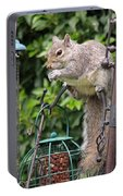 Squirrel Eating Nuts Portable Battery Charger