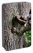 Squirrel Guarding Watering Knot Portable Battery Charger