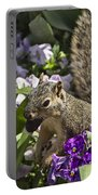 Squirrel In The Botanic Garden-dallas Arboretum V2 Portable Battery Charger