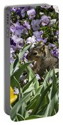 Squirrel In The Botanic Garden-dallas Arboretum V3 Portable Battery Charger