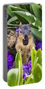 Squirrel In The Botanic Garden Portable Battery Charger