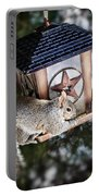 Squirrel On Bird Feeder Portable Battery Charger