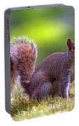 Squirrel On Grass Portable Battery Charger