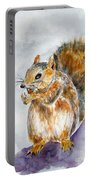 Squirrel With Nut Portable Battery Charger