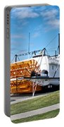 Ss Klondike Sternwheeler From Stern On The Yukon River In Whitehorse-yk Portable Battery Charger