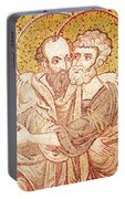 Saints Peter And Paul Embracing Portable Battery Charger