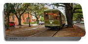 St. Charles Ave. Streetcar In New Orleans Portable Battery Charger