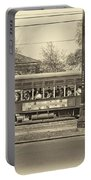 St. Charles Ave. Streetcar Sepia Portable Battery Charger
