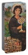 St. Clare Of Assisi Portable Battery Charger