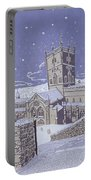 St David S Cathedral In The Snow Portable Battery Charger by Huw S Parsons