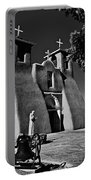 St Francis In Black And White Portable Battery Charger