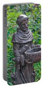 St Francis Of Assisi Garden Statute Portable Battery Charger