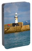 St Ives And Godrevy Lighthouses Cornwall Portable Battery Charger