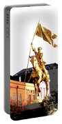 St Joan Of Arc Statue At Dawn Portable Battery Charger