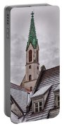 St Johns Church In Riga Latvia Portable Battery Charger