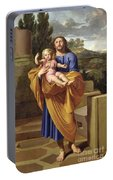 St. Joseph Carrying The Infant Jesus Portable Battery Charger