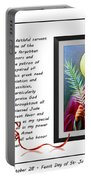 St. Jude Patron Of Hopeless Cases - Prayer - Petition Portable Battery Charger by Barbara Griffin