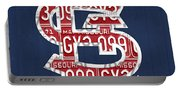 St. Louis Cardinals Baseball Vintage Logo License Plate Art Portable Battery Charger