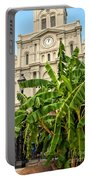 St. Louis Cathedral And Banana Trees New Orleans Portable Battery Charger
