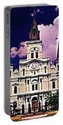St Louis Cathedral In New Orleans Portable Battery Charger