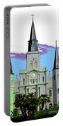 St Louis Cathedral Poster 2 Portable Battery Charger