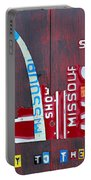 St. Louis Skyline License Plate Art Portable Battery Charger