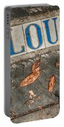 St Louis Street Tiles In New Orleans Portable Battery Charger