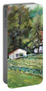 St. Lukes Church And Jefferson Vineyards In Charlottesville Va Portable Battery Charger