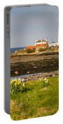 St Marys Lighthouse With Daffodils Portable Battery Charger
