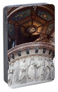 St Nicholas Church Pulpit In Amsterdam Portable Battery Charger