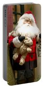 St Nick Teddy Bear Portable Battery Charger by Jon Berghoff