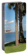 St Pete Pier Through Palm Trees Portable Battery Charger
