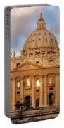 St. Peters Basilica Portable Battery Charger by Adam Romanowicz