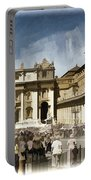St Peters Square - Vatican Portable Battery Charger by Jon Berghoff