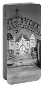 St Roch's Cemetery Bw Portable Battery Charger
