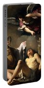St. Sebastian Succoured By Two Angels Portable Battery Charger