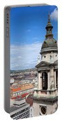 St Stephen's Basilica Bell Tower In Budapest Portable Battery Charger