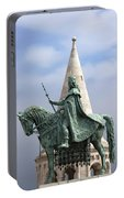St Stephen's Statue In Budapest Portable Battery Charger